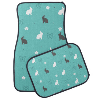 cute bunny flower and butterfly pattern car mat