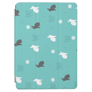 cute bunny flower and butterfly pattern iPad air cover