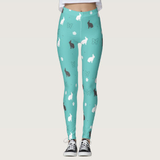 cute bunny flower and butterfly pattern leggings