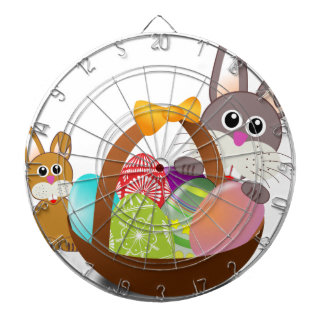 Cute bunny for happy easter day dartboard