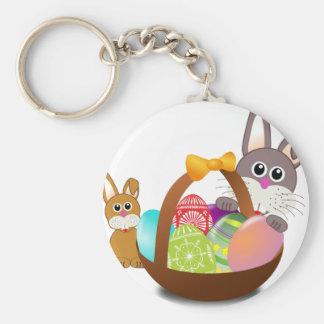Cute bunny for happy easter day keychain