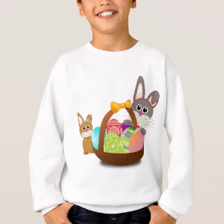Cute bunny for happy easter day sweatshirt