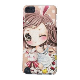 cute girl with kawaii bunny gifts on zazzle ca