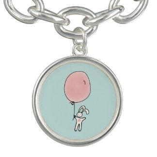 Cute Bunny Holding a Balloon Bracelet
