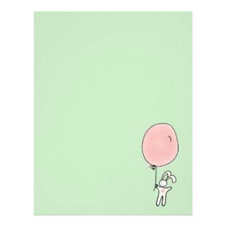 Cute Bunny Holding a Balloon Letterhead