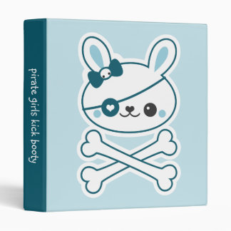 Cute Bunny Pirate Vinyl Binder
