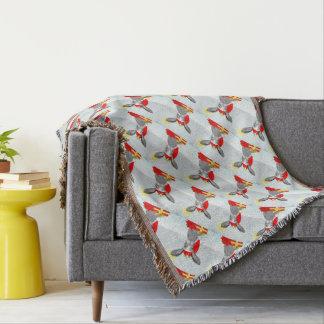 Cute Bunny Rabbit Christmas Holiday Design Throw Blanket