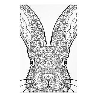 Cute Bunny Rabbit Design Stationery