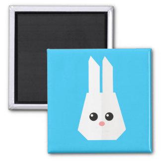 Cute Bunny Rabbit Square Magnet