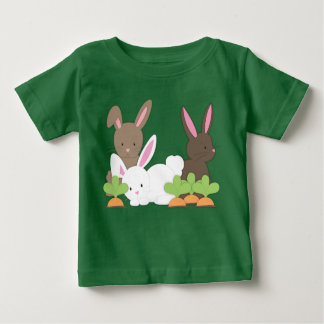 Cute Bunny Rabbit Trio Baby T-Shirt