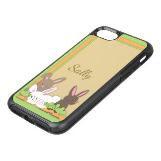 Cute Bunny Rabbit Trio Personalized OtterBox Symmetry iPhone 8/7 Case