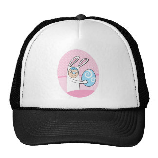 Cute bunny rabbit with Easter egg Hats
