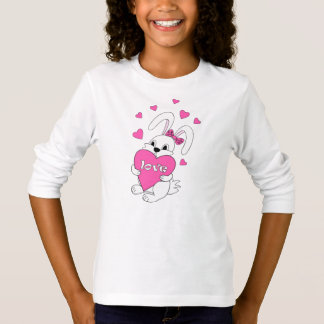 cute bunny with love T-Shirt
