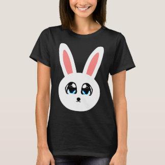 Cute Bunny Women's Black T-Shirt