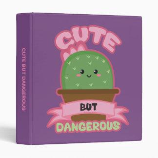 Cute But Dangerous - Kawaii Cactus - Funny 3 Ring Binder