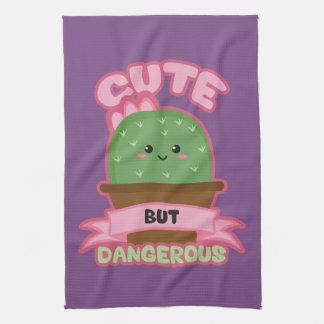 Cute But Dangerous - Kawaii Cactus - Funny Kitchen Towel
