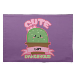 Cute But Dangerous - Kawaii Cactus - Funny Placemat