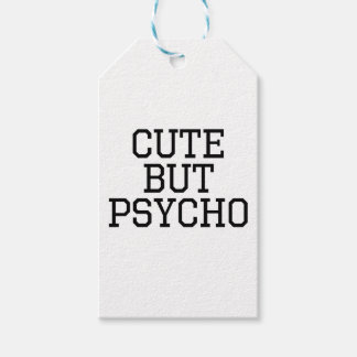 Cute But Psycho Gift Tags