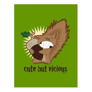 Cute But Vicious Postcard