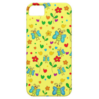 Cute butterflies and flowers pattern - yellow iPhone 5 case