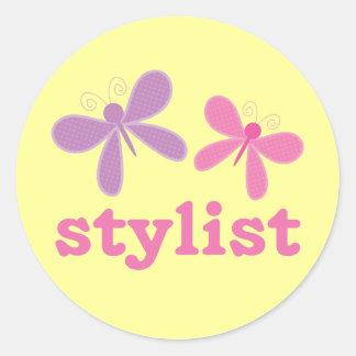Cute Butterflies Beauty Stylist Classic Round Sticker