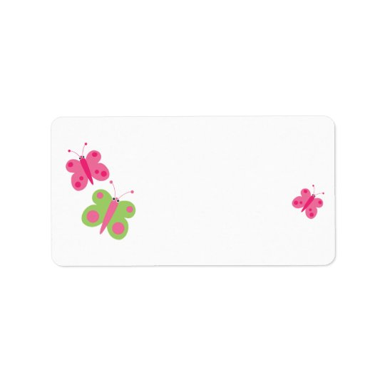 Cute Butterflies Blank Address Labels