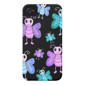 Cute butterflies - cartoon style Case-Mate iPhone 4 case