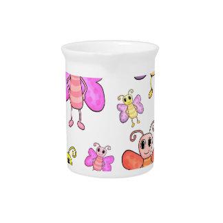 Cute butterflies pattern pitcher