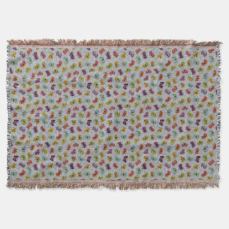 Cute Butterflies Throw Blanket