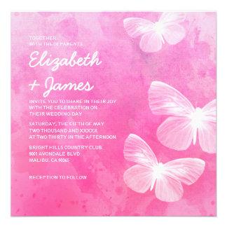 Cute Butterflies Wedding Invitations Custom Invite