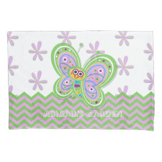 Cute Butterfly and Flowers Pillowcase