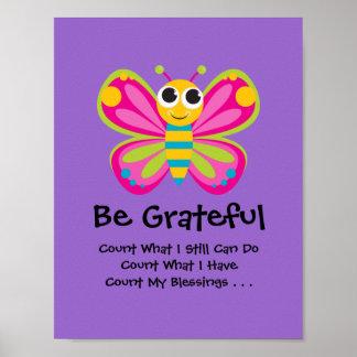 Cute Butterfly Gratitude Poster