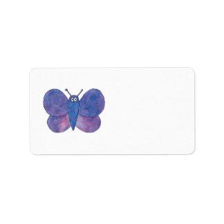 Cute Butterfly. Custom Address Label