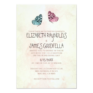 Cute Butterfly Wedding Invitations