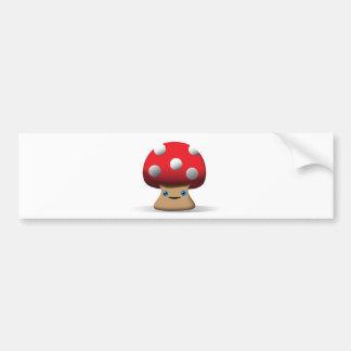 Cute Button Mushroom Bumper Sticker