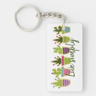 Cute cactus design keychain