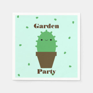Cute cactus kawaii plant napkins disposable napkins
