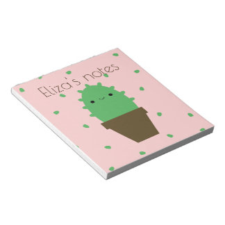 Cute cactus kawaii plant notepad