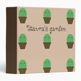 Cute cactus kawaii plants avery binder