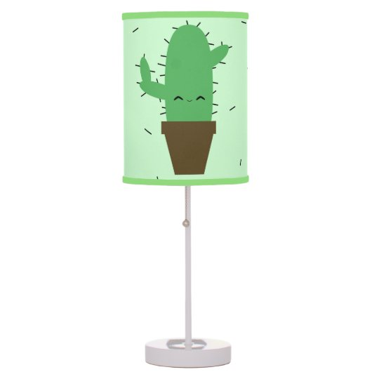 Cute cactus kawaii table lamp