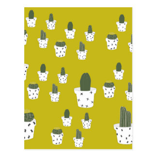 Cute Cactus Pattern Postcard
