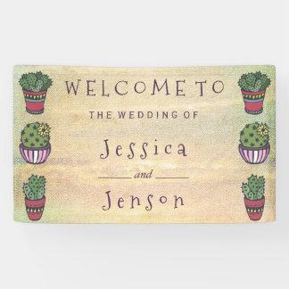 Cute Cactus Wedding Banner