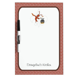 Cute Cajun Crawfish Gumbo Dry Erase Board
