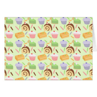 Cute Cake Pattern Card