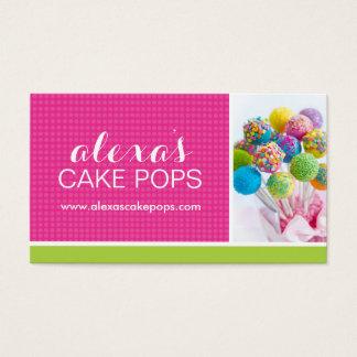 Cute Cake Pop Business Card