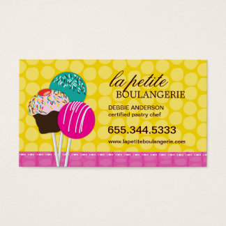 Cute Cake Pop Business Cards