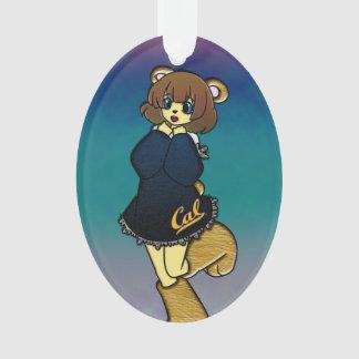 Cute Cal Bear Girl Ornament