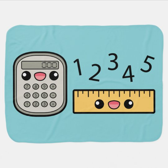 cute calculator and ruler with numbers baby blanket zazzle ca