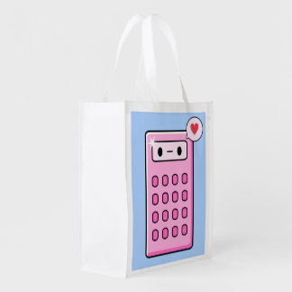 Cute Calculator Reusable Grocery Bag