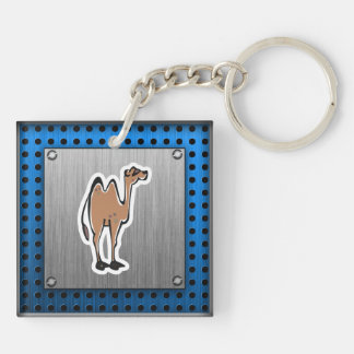 Cute Camel; Metal-look Double-Sided Square Acrylic Keychain